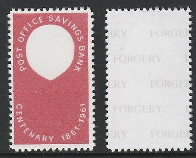 Great Britain (713) 1961 POSB Queen's Head Missing -  a Maryland FORGERY unused