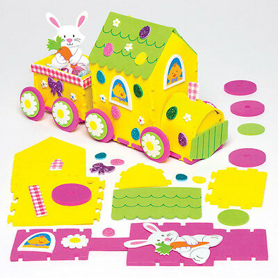 Easter Bunny Train Decoration for Children to Make - Creative Kids Craft Toy Set