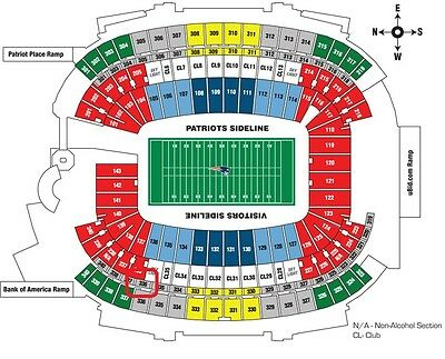 2 tickets NEW ENGLAND PATRIOTS AFC CHAMPIONSHIP GAME Jan. 22 Secion 336 Row 2