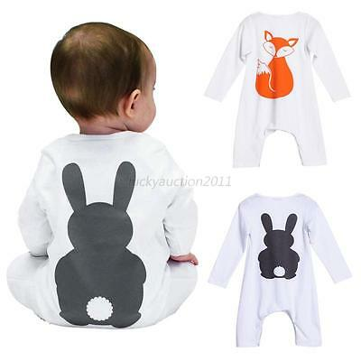 Newborn Baby Boy Girls Cartoon Bodysuit Outfit Costume Romper Cotton 0-18M 1Pcs