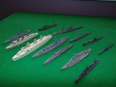 Vintage Old Diecast Ships & Submarines X12 Including Dinky Toys !!!!!!!