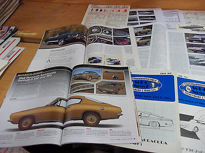 1968 Plymouth Barracuda Magazine/ Literature lot of 18 items
