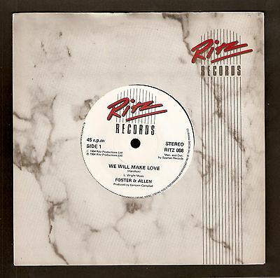 "Foster & Allen - We will make love Bw 7 Wonders of Fore 7"" vinyl 1984"