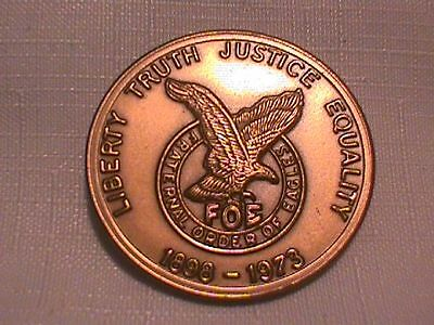 FOE Coin MEDAL 1973 75th ANNIVERSARY Fraternal Order of Eagles
