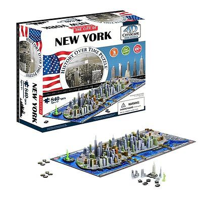 4D Cityscape Time Puzzle New York City History Over Time Jigsaw Model Kit