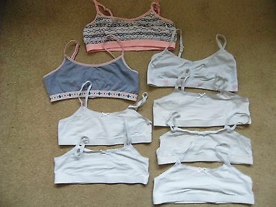 Used 8 Young Girls Underwear Crop Tops - Age 11-12  Years