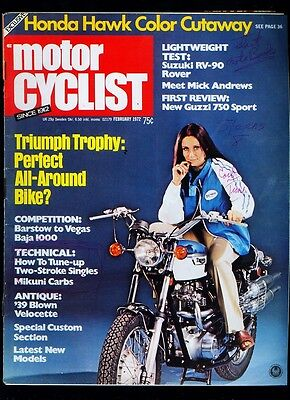 1972 (February) Motor Cyclist motorcycle chopper magazine