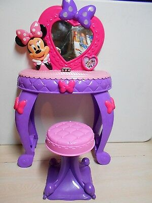 Disney's Talking Minnie Mouse Vanity Set W/Stool For Little Toddler Girl's Toy