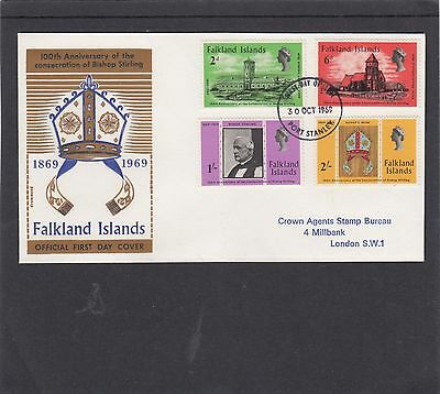 Falkland Isles 1969 Bishop Stirling Consecration First Day Cover FDCPort Stanley