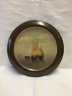Bretby Art Pottery, Woodville, Swadlincote Matzone Hand Painted Wall Plate C1913