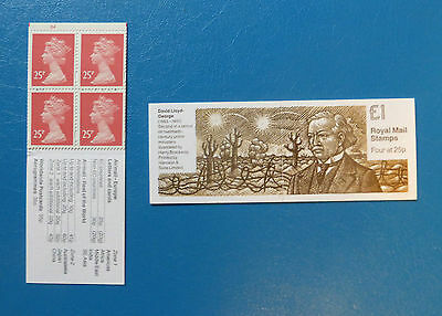 GB STAMP BOOKLET FH33 :: PRIME MINISTER 2 – LLOYD GEORGE :: Cyl B4