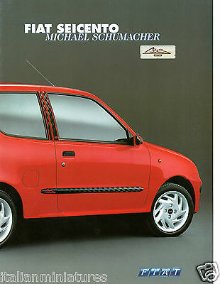 Fiat Seicento Michael Schumacher 4 Page German Language Sales Brochure