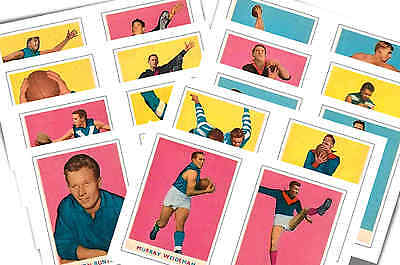 Australian Footballers 1963 - New Collectable Postcard Set