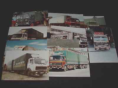 11 Mercedes Benz Reproduced Truck Photographs All In Excellent Condition.