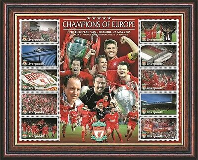 Liverpool FC Framed Pre-Production Print - 'Champions of Europe' 2005