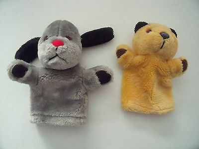 Sooty, Sweep (Squeaks)  Hand Glove Puppet Toys -- Sooty & Sweep