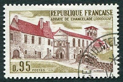 FRANCE 1970 95c chocolate, brown-red and yellow-olive SG1884 used FG #W7