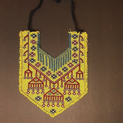 Belly Dance ATS tribal Beaded NECKLACE Afghani Kuchi 809m1