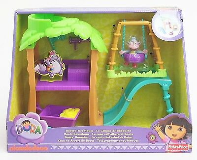 Fisher-Price X3404 Dora the Explorer Playtime Together Boot's Treehouse + Figure