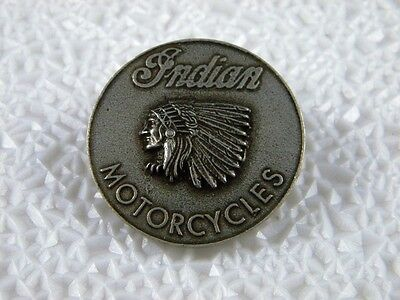 Indian Motorcycles Vest Pin Chief Scout Biker Roadmaster Four Hat Patch V2