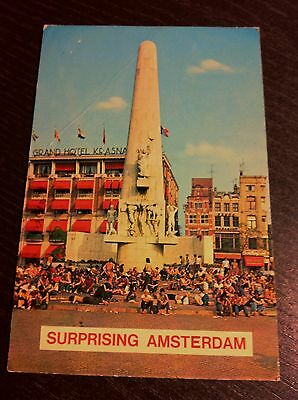 V.1973: Farb-AK AMSTERDAM HOLLAND NATIONALDENKMAL    #