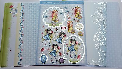Hunkydory 9 A4 Sheets FAIRY GARDEN Foiled & Die Cut Toppers,Insert & Card Kit