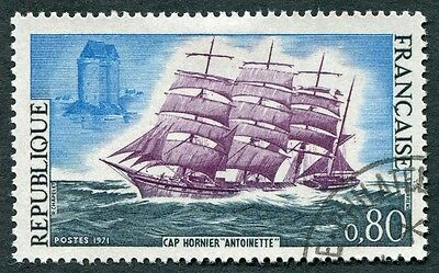 FRANCE 1971 80c SG1920 used FG French Sailing Ships Barque Antoinette #W9