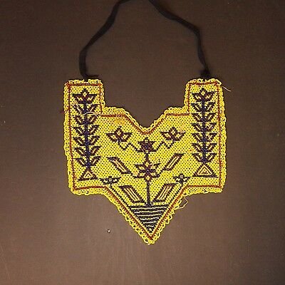 Belly Dance ATS tribal Beaded NECKLACE Afghani Kuchi 809n1