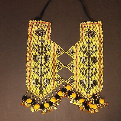 KUCHI Tribe BellyDance ATS Central Asia Beaded NECKLACE 809n7