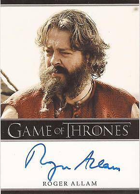 "Game of Thrones Season 2 - Roger Allam ""Magister Illyrio"" Autograph Card"