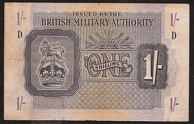 GREAT BRITAIN 1 shilling No date (1943) PM2 (Spec. Issues) VF Military Issue