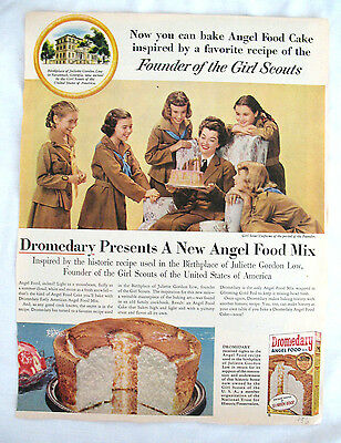 1950s Dromedary Advertisment to Frame, Girl Scouts Juliette Low Birthplace GIFT
