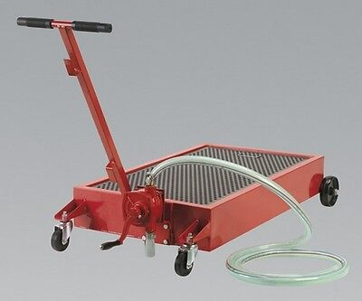 Sealey AK467DXP Low Level Oil Drainer 64Ltr With Pump Hand Tool Garage Equipment