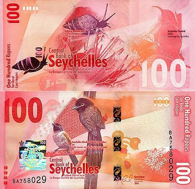 SEYCHELLES 100 Rupees Banknote World Paper Money Banknote Pick p-New 2016 Bird