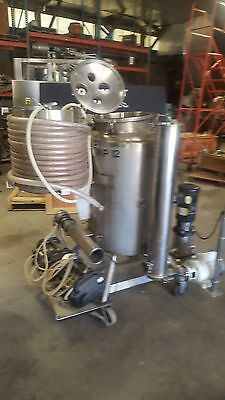 12460-010 Used approximately 50 gallon vertical stainless steel jacketed tank