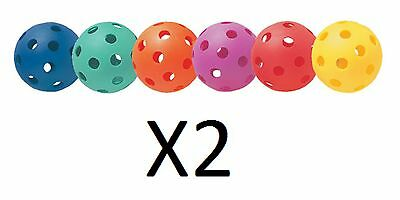 Champion Multicolored Plastic Baseballs Playground Practice Set Of 6 (2-Pack)