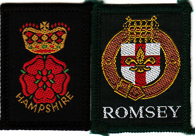 Boy Scout Badges HAMPSHIRE County+ ROMSEY DISTRICT