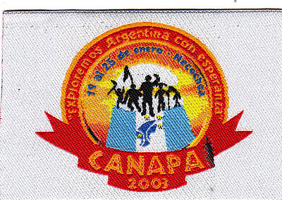 Boy Scout Badge CANAPA 2001 ARGENTINA