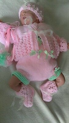 """Mandys cute matinee romper set 16""""17"""" or tiny baby"""