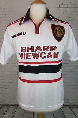 Vintage Umbro Manchester United Football Shirt 1997-99 Away Soccer Y Small Mens