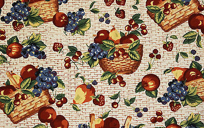 Longaberger Fruits And Baskets 5 Yards New Unused Off The Roll Fabric