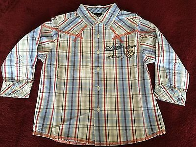 Boys long sleeve shirt Next 18 months to 2 years Blue Checked