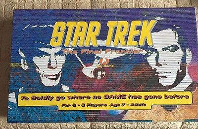 New Star Trek The Final Frontier Board Game Unpunched