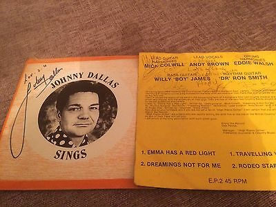 Johnny Dallas Signed Single & Photo & High Plains Drifter Band  Sleeve Signed