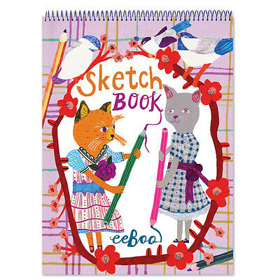eeBoo Drawing Cats Sketchbook SKDC Free US Shipping