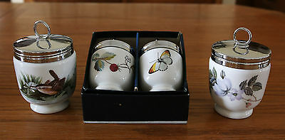 4 Royal Worcester Egg Coddles - 2 Singles & 2 King Size  Excellent Condition