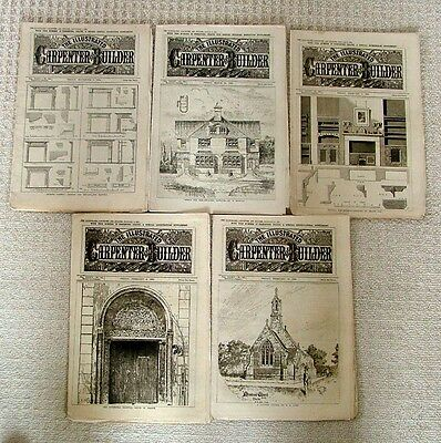 1894 CARPENTER & BUILDER PAPERS/MAGAZINES X 5 ( lot 3) RARE