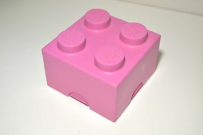"""Lego Brick 1 Storage Box Block Toy Container Box Official Lego Pink 5X5"""""""