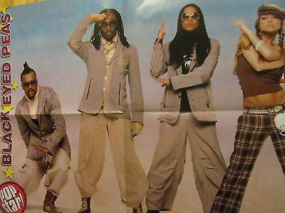 Black Eyed Peas, Kelly Clarkson, Double Four Page Foldout Poster