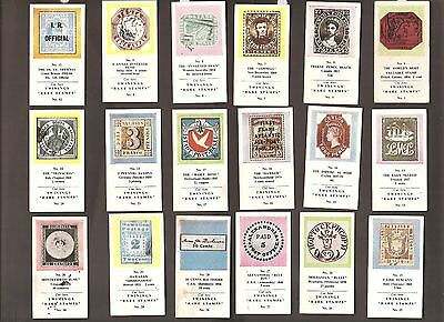 "18 Twinings Tea Cards ""rare Stamps"""